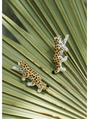 Boucle d'Oreille Walk Leopard