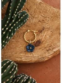 Mini Créole Fleur Turquoise